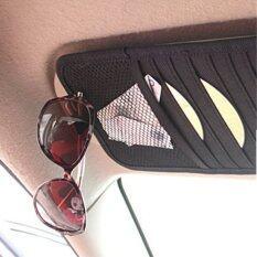 ซองสำรับเก็บแผ่นซีดี Hot Sale Car Accessories Leather CD Holder Sun Visor Car CD Multi-functional Car CD Bags - Black