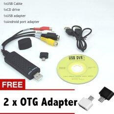 ทบทวน ที่สุด Hot Sale Easycap Usb 2 Easy Cap Video Tv Dvd Vhs Dvr Capture Adapter Usb Video Capture Vedio Capture Device Intl