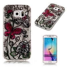 Hot Upscale Butterfly flowers TPU Soft Gasbag Back Case Cover For Samsung Galaxy