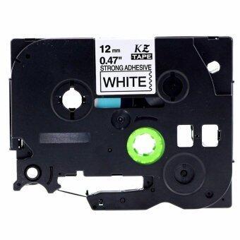 บ้านเดี่ยว 1 ม้วน TZ-S231 พิมพ์เทปฉลากเทปพี-แตะสำหรับ Brother TZe-S231 เสริมความแข็งแรงกาวสีดำบนสีขาว 12 มิลลิเมตร x 8 เมตร-นานาชาติ