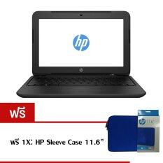 "HP 11-f001TU Celeron N2840 2GB 500GB 11.6"" Dos (Black) ฟรี 1X HP Sleeve Case มูลค่า 990 บาท"