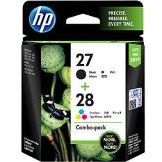 Hp 27 Black 28 Tri Color 2 Pack Ink Cartridges Cc628Aa ใหม่ล่าสุด