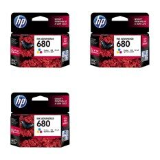 ราคา ตลับหมึกอิงค์เจ็ท Hp 680 สี 3กล่อง ของแท้ ใหม่ ถูก
