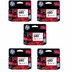 HP 680 (F6V26AA) INK Color สี - 5 ตลับ