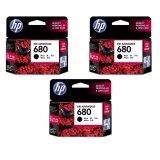 ซื้อ Hp 680 F6V27Aa Ink Black สีดำ 3 ตลับ ออนไลน์
