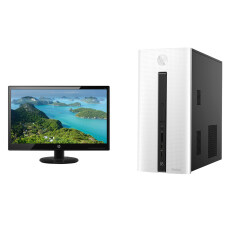 "HP Desktop PC 550-154L/i3-6100/4GB/1TB/Dos + 19.5"" IPS Monitor 20KD"
