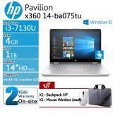 ขาย ซื้อ Hp Pavilion X360 14 Ba075Tu 2Yd90Pa Akl I3 7130U 2 7Ghz 4Gb 1Tb 14 Hd Touch Win10 Silver รับประกัน 2 ปี Onsite กรุงเทพมหานคร