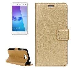 ขาย Huawei Y5 2017 Litchi Texture Horizontal Flip Leather Case With Holder And Card Slots And Wallet Gold Intl Sunsky เป็นต้นฉบับ