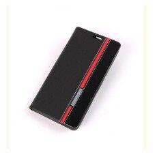 โปรโมชั่น Huawei Y7 2017 Flip Case เคส ฝาพับ ลายคาด Huawei Y7 2017 เคสฝาพับ Flipcase สีดำ สีแดง กรุงเทพมหานคร