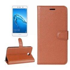 ราคา Huawei Y7 Litchi Texture Horizontal Flip Leather Case With Holder And Card Slots And Wallet Brown Intl ราคาถูกที่สุด