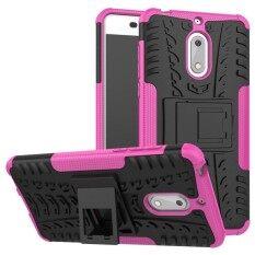 โปรโมชั่น Hybrid Rugged Heavy Duty Hard Back Case Cover With Kickstand For Nokia 6 5 5 Inch Intl Unbranded Generic