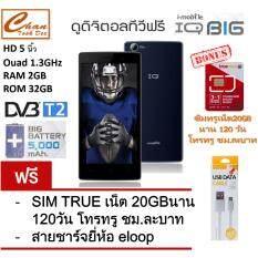 i-mobile IQ X BIG แบต 5000mAh (BLUE) ฟรี สายชาร์จ ยี่ห้อ eloop + ซิมทรูเน็ต20GB  นาน 120 วัน โทรทรู ชม.ละบาท