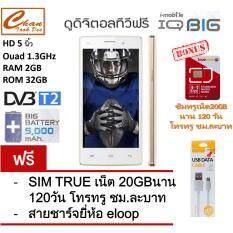 i-mobile IQ X BIG แบต 5000mAh (WHITE) ฟรี สายชาร์จ ยี่ห้อ eloop + ซิมทรูเน็ต20GB  นาน 120 วัน โทรทรู ชม.ละบาท