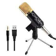 I Smart Mk F100Tl Usb Condenser Sound Recording Microphone With Stand For Radio Broadcasting Black Gold เป็นต้นฉบับ