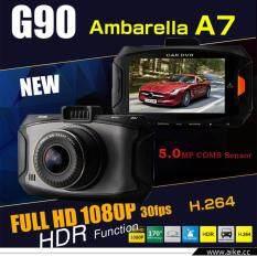 "I-SMART New 2016 FULL HD 1080P 3.0"" big size screen กล้องติดรถยนต์ รุ่น 90 (Black)"