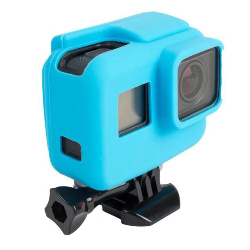 iBelieve Soft Silicone Cover Side Frame Protective Case for Go Pro Hero 5 Sport Action Camera