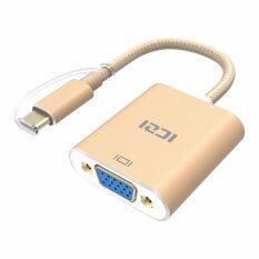 ราคา Iczi Type C Usb 3 1 Thunderbolt 3 Port Compatible To Vga Adapter 1080P Aluminum Body Cable For Lenovo Yoga Macbook Pro Intl ราคาถูกที่สุด