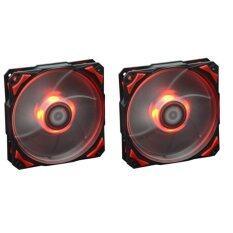 ID-COOLING PL-12025-R COOLING FAN (RED LED) x 2 pcs