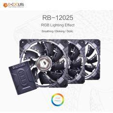 ID-COOLING RB-12025 12CM RGB LED Fan 3 Pack + Controller