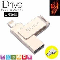 Idrive Idiskk Pro 32gb Lx-811 Usb 2.0 แฟลชไดร์ฟสำรองข้อมูล Iphone,ipad แบบหมุน + Otg.