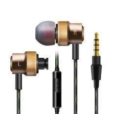 โปรโมชั่น In Ear Beech Earphones Bass Stereo Headset With Iphone And 3 5Mm Android Mobile Phone Headset Metal Support Mp3 Portable Microphone Gold Intl