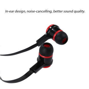 แนะนำ In-ear Binaural Stereo Headset 3.5mm Audio Plug Music Earphone Noise Cancellation Headphone with Mic Black for iPhone 6S 6Plus 6 Samsung S6 Note 5 HTC ...