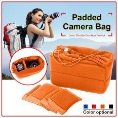 ราคา ราคาถูกที่สุด กระเป๋าใส่กล้องมีเบาะ Dslr พับฉากกั้นป้องกันตัวในเคส ระหว่างประเทศ Intl