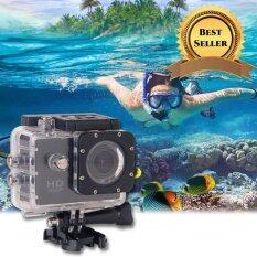 Inspy กล้องจักรยาน action cam กันน้ำ 30m + Full HD (สีดำ) กล้องติดรถจักรยาน กล้องติดหมวก กล้องติดรถมอเตอร์ไซต์