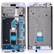 IPartsBuy สำหรับ OPPO A37 ฝากรอบหน้า LCD แผ่นเฟรมหนามเตย (สีขาว) -