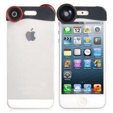 ราคา เลนส์ครอบหัว Iphone 5 3 In 1 Red ที่สุด