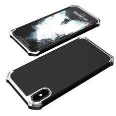 IPhone กรณี X, RUILEAN เคสPC 3 ใน 1 กรณีประกบหัวท้ายโครเมี่ยมเคสถอดหัวคสคลุมสำหรับ iPhone X เงิน