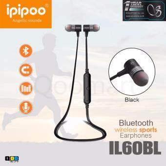 iPIPOO หูฟังบลูทูธ รุ่นIL60BL WirelessSport สีดำ (Black)