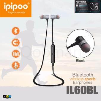 iPIPOO หูฟังบลูทูธ รุ่นIL60BL WirelessSport สีเทา (Grey)