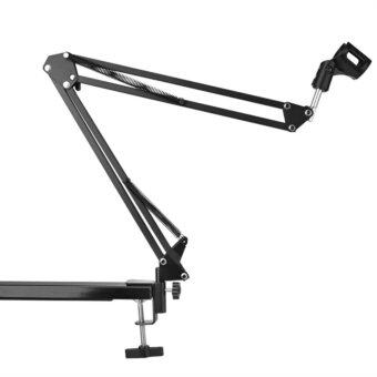 iremax Mic Microphone Suspension Boom Scissor Arm Stand Holder for Studio Broadcast w/ Shock Mount