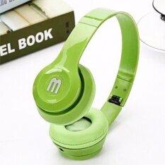 ราคา หูฟังสีสดใส สีเขียว พับได้ มีไมค์ รับสาย คุยมือถือได้ แบบครอบหู รุ่น J 03 ใหม่
