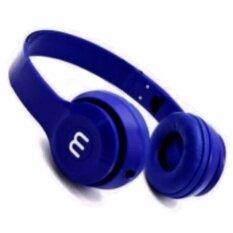 โปรโมชั่น หูฟังสีสดใส สีน้ำเงิน พับได้ มีไมค์ รับสาย คุยมือถือได้ แบบครอบหู รุ่น J 03 Total Link