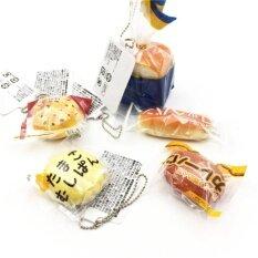ส่วนลด สินค้า สกุชชี่ ขนมปัง พวงกุญแจ J Dream Mini Bread Squishy Ball Chain Set3