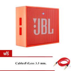 ราคา Jbl Go Bluetooth Speaker Orange ฟรี Cablesfrless Tm 3Ft 3 5Mm ออนไลน์
