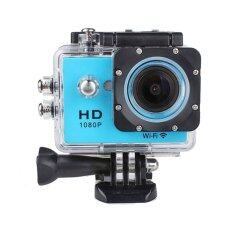 JCGadget Action Camera Full HD 12 MP Wifi (Blue)