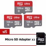 ซื้อ Jj Memory Card 128Gb Micro Sd Card Class 10 Fast Speed 3ชุด แถมฟรี Micro Sd Adapter ออนไลน์ ถูก