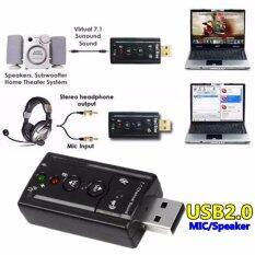 JJ USB 2.0 Sound card usb SOUND External USB Virtual 7.1-black