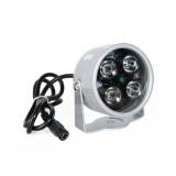 ขาย ซื้อ ออนไลน์ Jo In 4Led Infrared Night Vision Ir Light Illuminator Lamp 50M For Ip Cctv Ccd Camera White Black