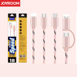 ซื้อ Joyroom 1M Nylon Skin Mobile Usb Cable For 2In1 Pink ถูก ใน จีน