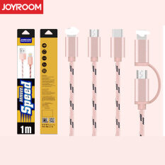 ซื้อ Joyroom 1M Nylon Skin Mobile Usb Cable For 2In1 Pink ออนไลน์
