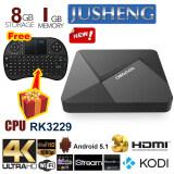 ซื้อ Jusheng Free Wireless Mini Keyboard Dolamee D5 Android 5 1 Tv Box 1G 8G Rk3229 Quad Core Cpu Xbmc Kodi 16 Fully Loaded Tv Box 4K Dual Band Streaming Media Player ออนไลน์