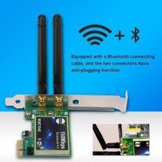 ขาย Justgogo 150 เมตร Bluetooth 4 Pci E Wireless Wifi การ์ดเชื่อมต่อ Dual Band 2 4 กรัม 5 กรัม 2 เสาอากาศ Unbranded Generic ถูก