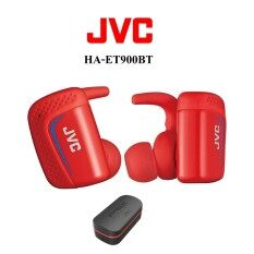 JVC HA-ET900BT Truly wireless sport headphones หูฟังไร้สายบลูทูธรุ่นใหม่จาก JVC พร้อมแท่นชาร์จในตัว กันน้ำ กันเหงื่อ รับประกันศูนย์ 1 ปี