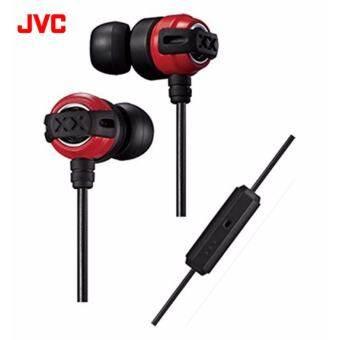JVC หูฟังอินเอียร์พร้อมไมค์ รุ่น HA-FX11XM-RB (Red/Black)-