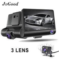 JvGood กล้องติดรถยนต์ 3 เลนส์กล้องหน้า/กล้องภายในรถและพร้อมกล้องหลังจอ 4นิ้วรุ่น C02 1080 จุด 3 LensVehicle Dash กระจกมองหลังกล้องกล้องวิดีโอ