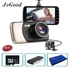 ซื้อ Jvgood 4 Dash กล้องด้านหน้าและด้านหลังเลนส์คู่ Camera กลางคืนวิสัยทัศน์ 1080 จุด 140 ° บันทึกภาพวิดีโอก เซนเซอร์ Camera และไมโคร C 10 8 กรัมการ์ดหน่วยความจำ Usb 2 เครื่องอ่านการ์ด Sd ใหม่